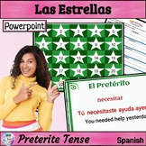 Preterite Tense: game (Las Estrellas), animated, interacti