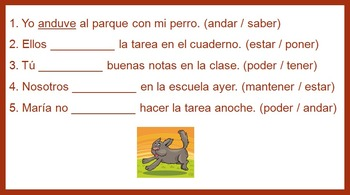 Preterite Tense in Four Days! Bundle of four lessons