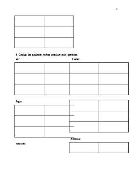 Preterite Tense worksheets, realidades 2-2B