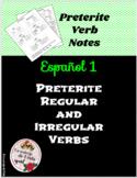 Preterite Verb Notes
