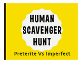 Spanish Preterite Vs Imperfect Human Scavenger Hunt