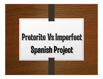 Spanish Preterite Vs Imperfect Project:  Adivina La Película