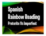 Spanish Preterite Vs Imperfect Rainbow Reading
