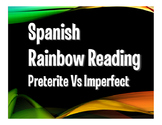Spanish Preterite Vs Imperfect Rainbow Reading