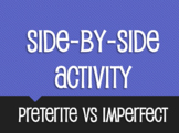 Spanish Preterite Vs Imperfect Side-By-Side Activity