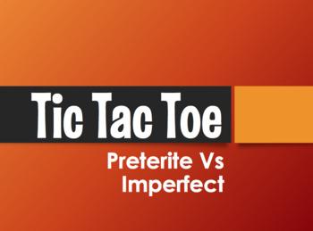 Spanish Preterite Vs Imperfect Tic Tac Toe Partner Game
