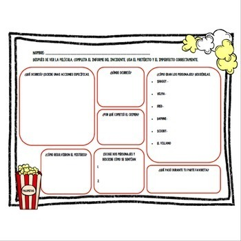 Preterite and Imperfect Editable Mystery Project and ...