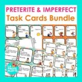 Preterite and Imperfect Spanish Task Cards Bundle | Spanish Review Activity