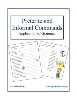 preterite and informal commands application worksheet by spanishplans. Black Bedroom Furniture Sets. Home Design Ideas