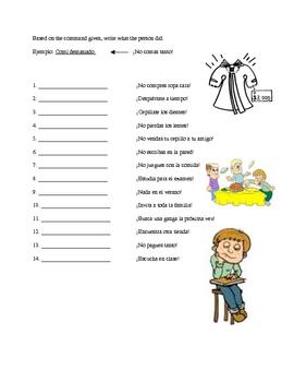 Preterite and Informal Commands Application Worksheet