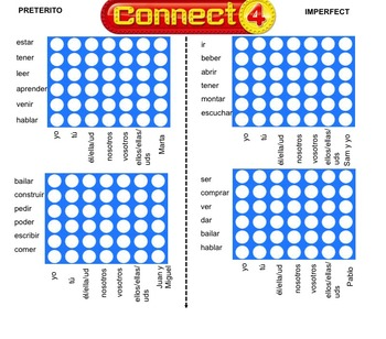 Preterite and imperfect Connect 4