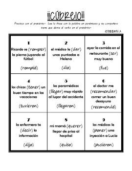 Preterite - cubrelo (game / communicative activity)
