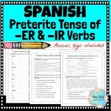 Preterite -er / -ir Verbs Scaffolding Practice Activities
