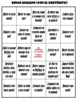 Preterite - human bingo!