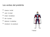 Preterite i>y verbs in 3rd person explained
