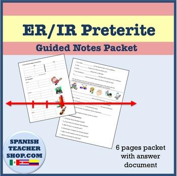 Preterite of -IR, -ER verbs