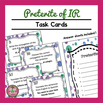Preterite of IR Task Cards
