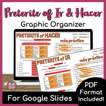 Preterite of IR and HACER Graphic Organizer