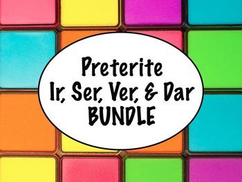 Spanish Preterite of Ir, Ser, Ver, & Dar BUNDLE- PowerPoin