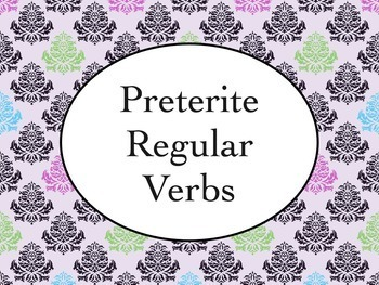 Spanish Preterite Regular Verbs Keynote Presentation for Mac, iPad, etc.