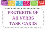 Preterite of -ar Verbs Task Cards