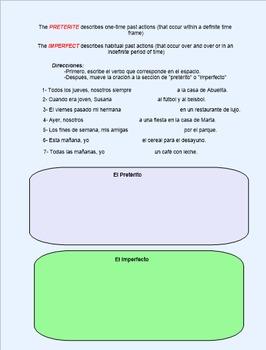 Preterite or Imperfect Smart Board Lesson
