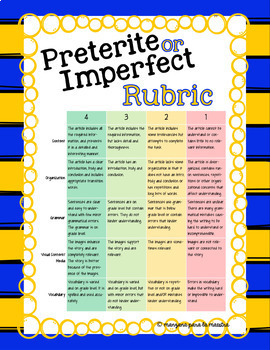 Spanish Preterite and Imperfect Project Children's Book OR Timeline