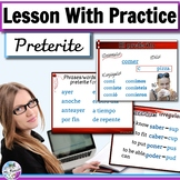 Preterite regular and irregular-editable PowerPoint/Lesson