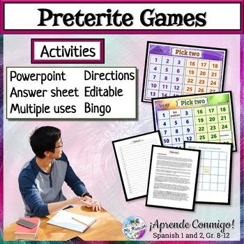 Preterite regular editable PowerPoint/Game/Activity/Response worksheet