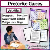 Preterite regular editable PowerPoint/Game/Activity/Respon
