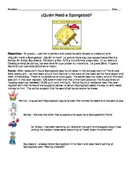 Preterite v Imperfect Murder Mystery Project (Spongebob Edition)