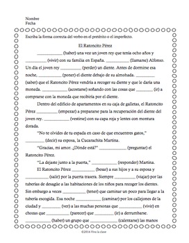 Preterite vs. Imperfect 3 Stories for Spanish