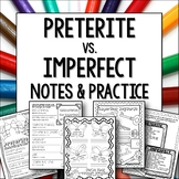 Preterite vs Imperfect Notes and Worksheet Activities