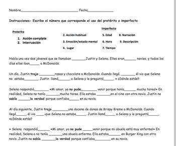 Preterite vs Imperfect Story: Grammar in context PPT & interactive activities