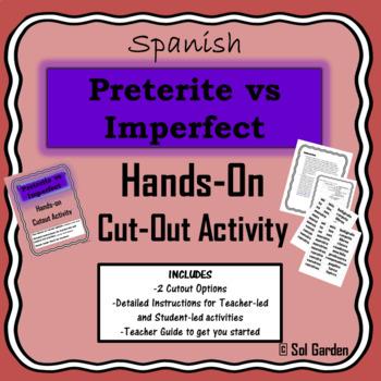 Preterite vs Imperfect - Hands-on Cutout Activity