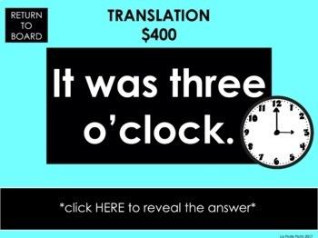 Preterite vs. Imperfect Jeopardy-Style Trivia Game
