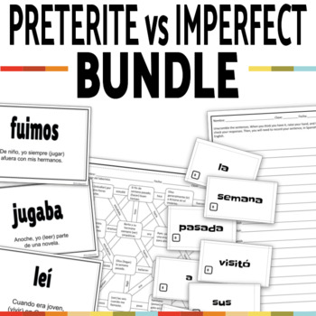 Preterite vs Imperfect Activities MEGA BUNDLE