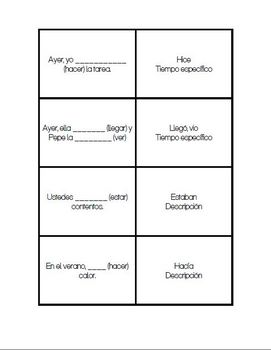 Preterite vs Imperfect Part I: Quiz #1 - StudySpanish.com
