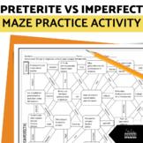 Preterite vs Imperfect Spanish Maze Practice Activity with Google Slides!