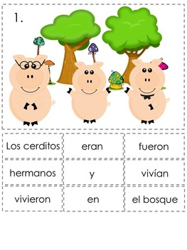 Preterite vs. Imperfect Spanish Sentence Writing Station Activities