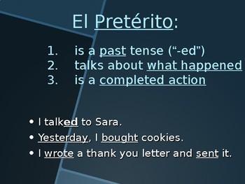 Preterite vs Imperfect Tense