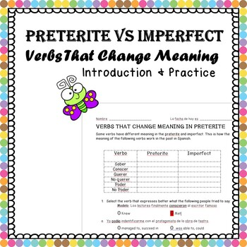 Preterite vs Imperfect: Verbs That Change Meaning Practice