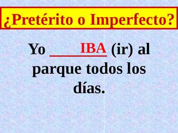 Preterite vs. Imperfect activity