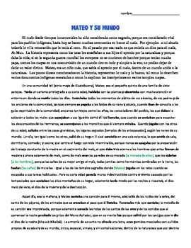 Preterite vs Imperfect activity - Guatemala - Mayans - el maíz
