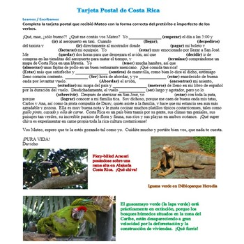 Preterite vs Imperfect short stories about my experiences in Costa Rica