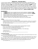 Preterite vs. Imperfect storybook project: Rubric and Description
