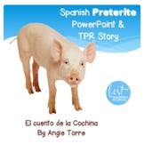 Spanish Preterite PowerPoint, TPR Story & Interactive Notebook Activities