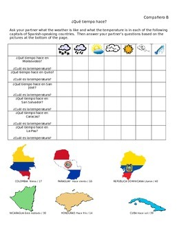 Info Gap Activity: Practice Weather and Capitals