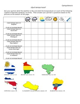 Info Gap Activity: Practice Weather and Capitals