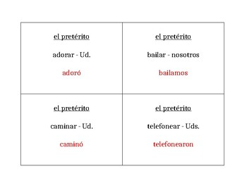 Pretérito AR verbs Spanish Question Question Pass activity
